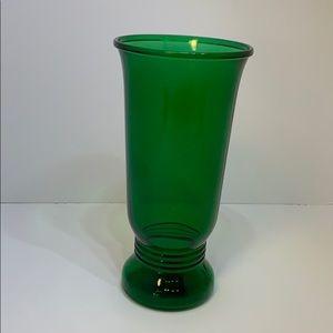 Vintage Depression Napco #1168 Green Glass Vase